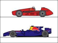 60秒でまるわかり F1マシンのカタチはこんなに変わった!