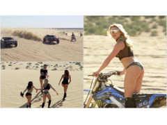 砂漠で美女軍団と戯れる、モンスターエナジーの爆走イベントがぶっ飛んでいる