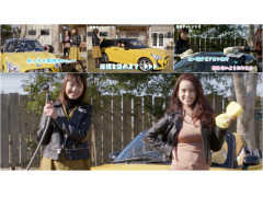 ギャル系ファッション誌のカリスマモデルizuとオサヨが教えるクルマの洗い方!