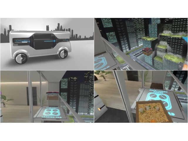 超絶便利! フォードの自動運転バンが可能にする未来の宅配風景