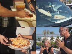 炎天下の車内はまるでオーブンの中! 初代CR-Vのダッシュボードでピザ焼き検証!