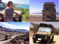 極東ロシアからアフリカ西部まで、Gクラスで旅する日本人カメラマン