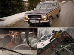謎のスキーヤーの出現で、心躍る冬の通学ドライブ