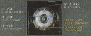 センターアームレスト先端にレイアウトされた「アームレストコントローラー」。これにより、dBのウリでもある室内イルミネーション、オーディオなどをコントロールするのだ