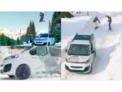 雪道でもガンガンいける! 4WDのミニバンっていいなあと心底思わされるシトロエンのCM