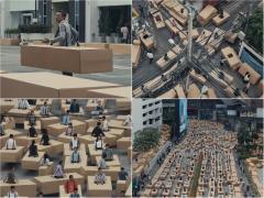 ダンボールのクルマで大渋滞!? Uber(ウーバー)が圧倒的な規模の映像で訴えるのは?