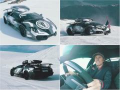 圧巻! ランボルギーニは雪山でも余裕のパフォーマンス!