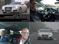 アウディの自動運転ドライブを女性型ロボットと体験