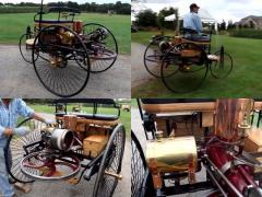 世界初のガソリン自動車、ベンツ製「パテント・モトールヴァーゲン」に乗る!
