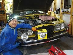 W123復活大計画 「ヘッドライトの調整に挑戦!」