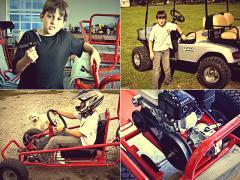 8才の少年が、父親のガレージでカートを自作!