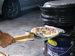 金属&溶接でDIY テンパーホイールで作るピザ窯