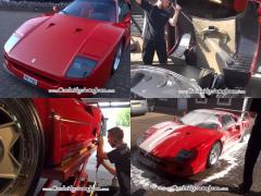 フェラーリ F40がピッカピカ! プロの洗車コーティングに脱帽!