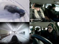 超体感型VR! 氷上を疾走するBMW X5に乗ってボブスレーの迫力映像を観る!