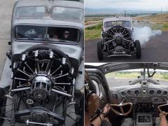 航空機の星型エンジン搭載!?  1939年式プリムス「PT81トラック」