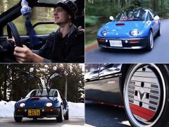 伝説の軽スポーツモデル「AZ-1」のドライブに心酔する外国人青年