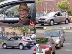 人のよさそうなおじいちゃんが豪快に決めるドリフト駐車!