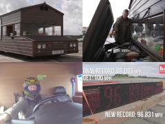 時速150kmオーバーで爆走する世界最速の「小屋」が驚き!