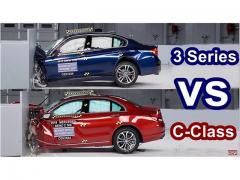 BMW3シリーズ VS メルセデスCクラス  衝突テストでガチンコ対決!