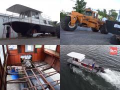 ボートとトラクターをドッキング! 水陸両用車がニューヨークで進水式!