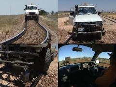 これぞオンザレール感覚! オーストラリアの鉄道をランクルで走る!
