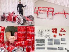 コーラを飲んでF1マシンを作った! 空き缶1000個でDIY