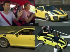 シャラポワとウェバーがポルシェ「911 GT2 RS」でドライブ!?