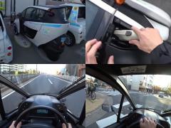 ステアリングで操作するバイク!?  トヨタ i-ROADに乗ってみた!