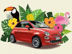 フィアット、熱帯のサンゴをイメージした限定モデル「500 Tropicale」を発売