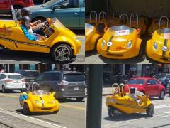 環境都市サンフランシスコで大人気! 2人乗りの3輪バギー