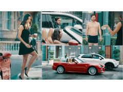 朝からホットなシーンを見せる、さすがはイタ車オーナーの男女!