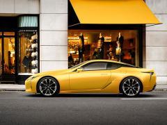 レクサス、フラグシップクーペ「LC」の特別限定車「Luster Yellow」を発売