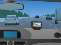 ドライブレコーダーをダッシュボードに取付ける際の取付位置の注意点