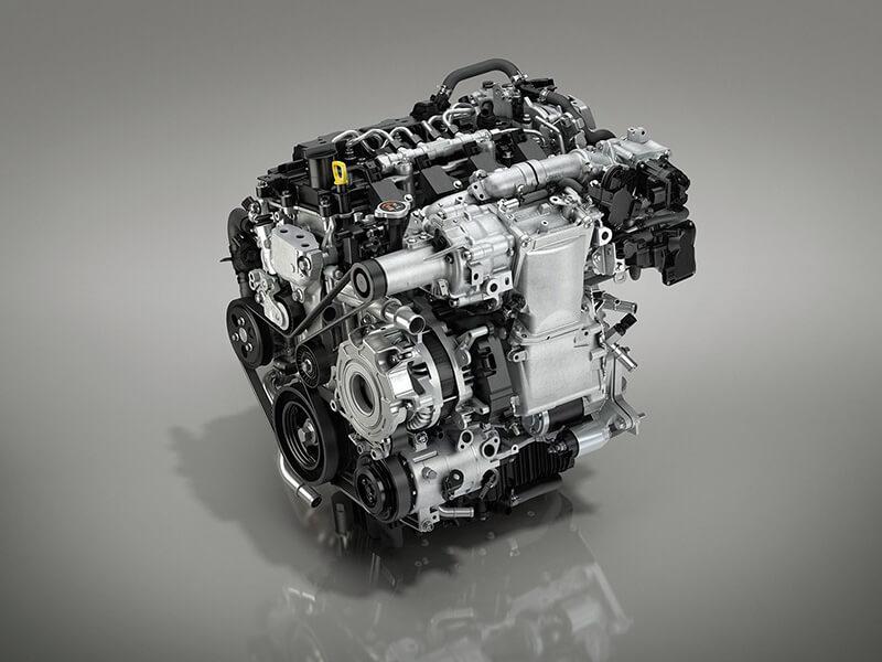新型MAZDA3・エンジンの画像