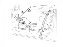 パワーウインドウの仕組み・構造