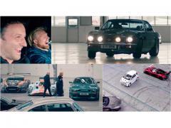アストンマーティンの新工場を歴代名車でドライブする輩は!?