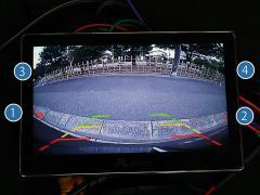 「マルチVIEWカメラ」で映し出される後方画面は広視界!