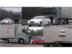 大型トレーラーが乗用車の背後に迫る!!  ボルボ・トラックの安全テスト