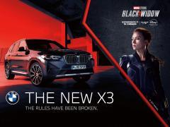 BMW X3がマーベルの『ブラック・ウィドウ』に登場、アクション撮影の舞台裏を公開!