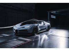 ブガッティ「チェントディエチ」風洞実験の様子を公開 限定10台生産のハイパースポーツカー
