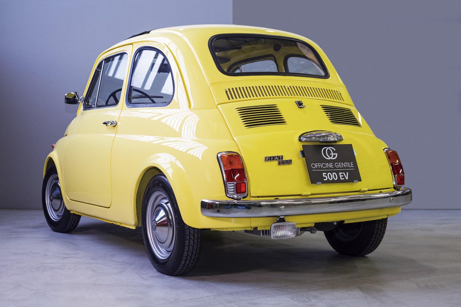 チンクエチェント博物館プロデュースの「FIAT 500ev」 リア