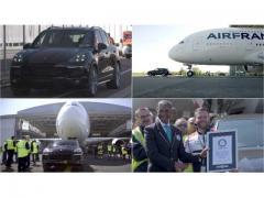 恐るべしカイエン! エールフランスのエアバスA380を牽引してギネス記録