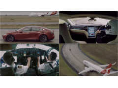 スプリント対決無差別級! テスラ モデル S vs カンタス航空のジェット機