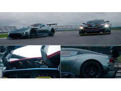 マクラーレン P1 GTR  VS  アストン ヴァルカン、 最強マシンがサーキットで勝負