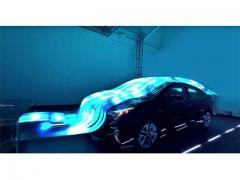 音と光が「プリウス」を優しく包み込む、トヨタが公開したLEDピアノとは