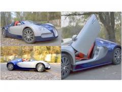 超高級スポーツカー、ブガッティ「ヴェイロン」がオープンカー仕様に贅沢カスタム!?