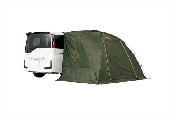 車中泊とキャンピングの中間に位置するサイドオーニングは汎用性も高く便利