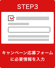 STEP3 キャンペーン応募フォームに必要情報を入力