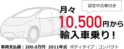 月々10,500円から輸入車乗り!