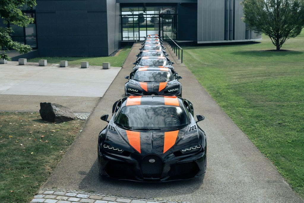 ブガッティ シロン スーパースポーツ300+ 納車された8台